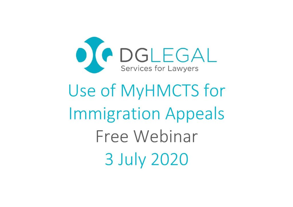 Use of MyHMCTS for Immigration Appeals Webinar