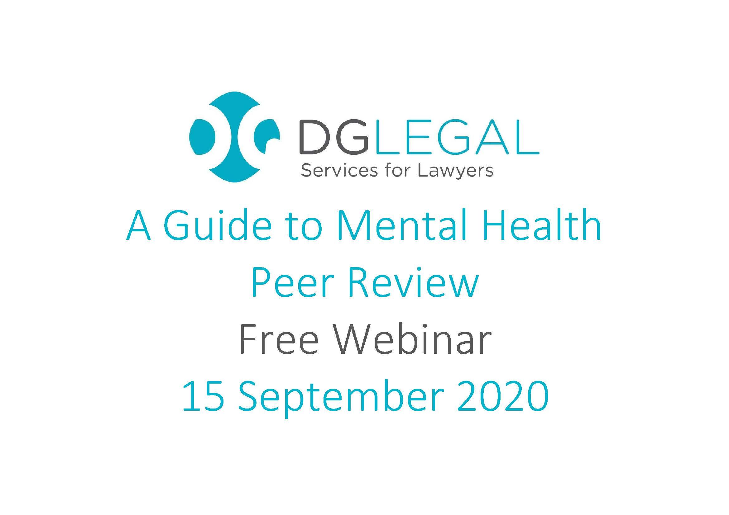 A Guide to Mental Health Peer Review Webinar