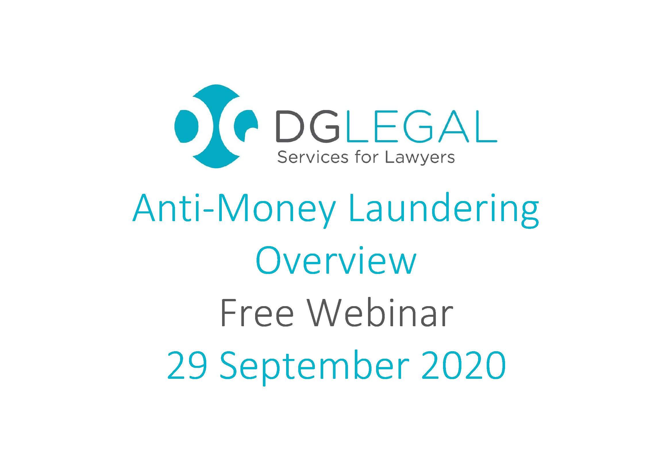 Anti-Money Laundering Overview Webinar