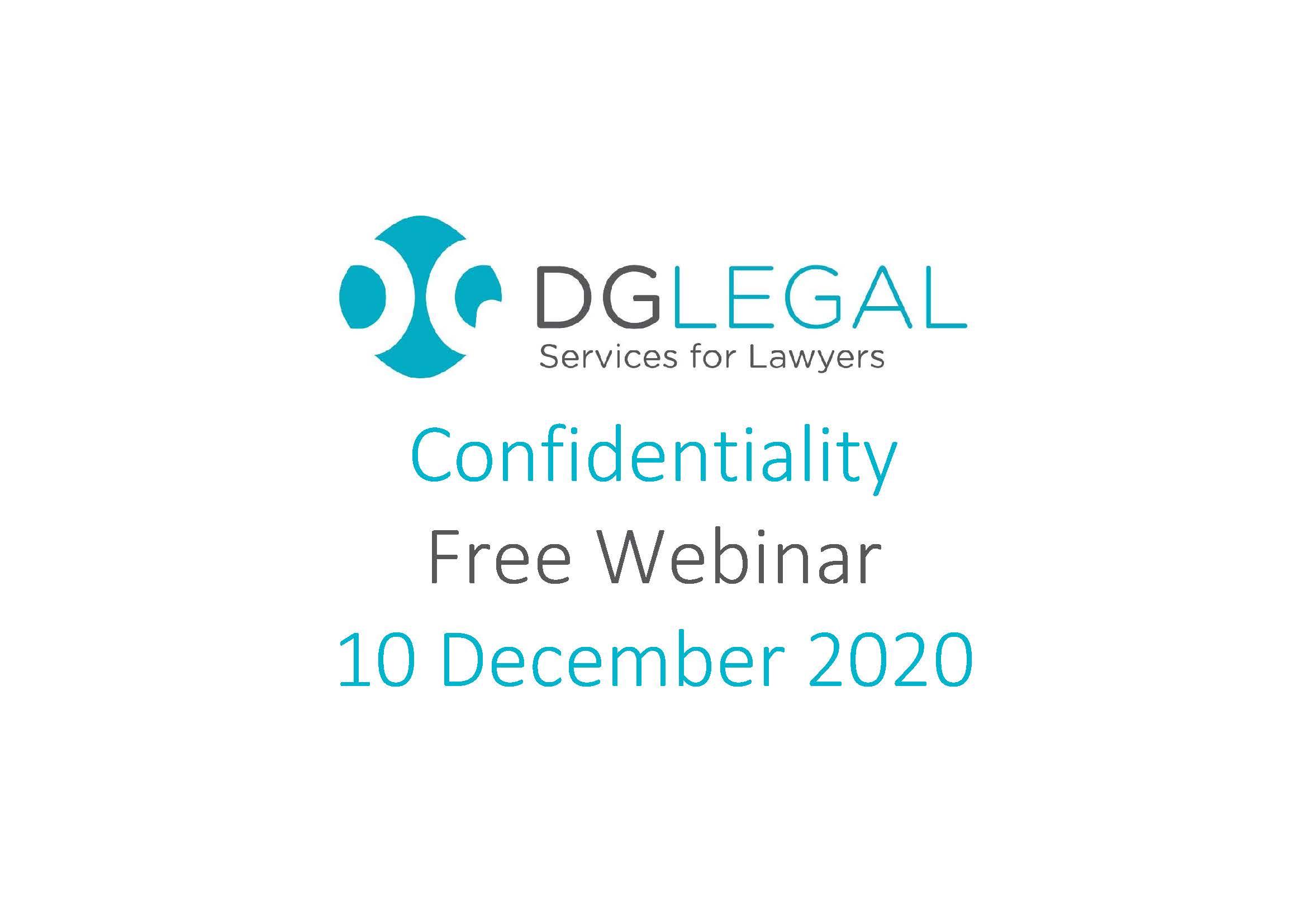 Confidentiality Webinar