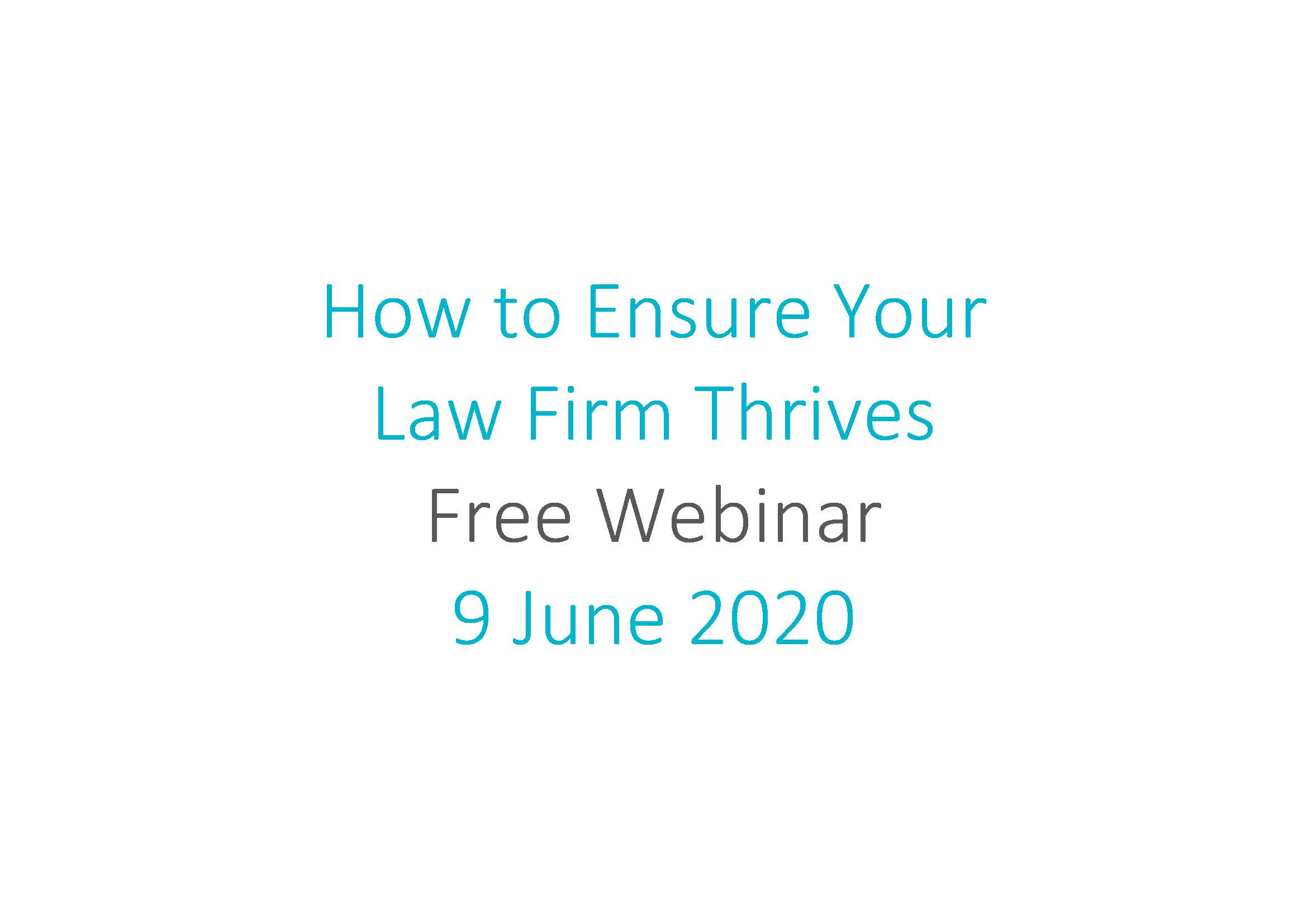 How to Ensure your Law Firm Thrives Webinar