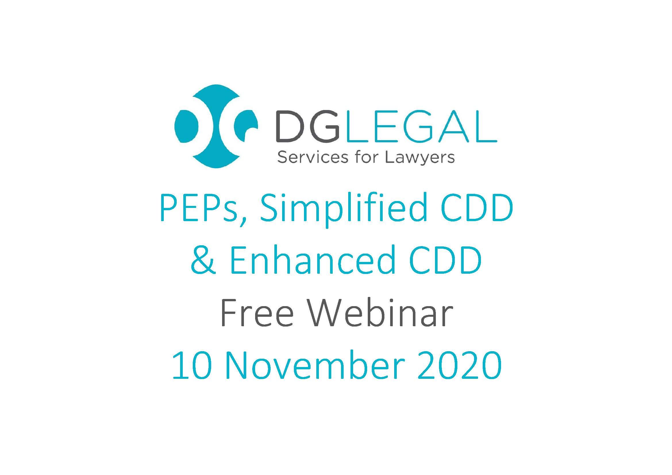 PEPs, Simplified CDD & Enhanced CDD