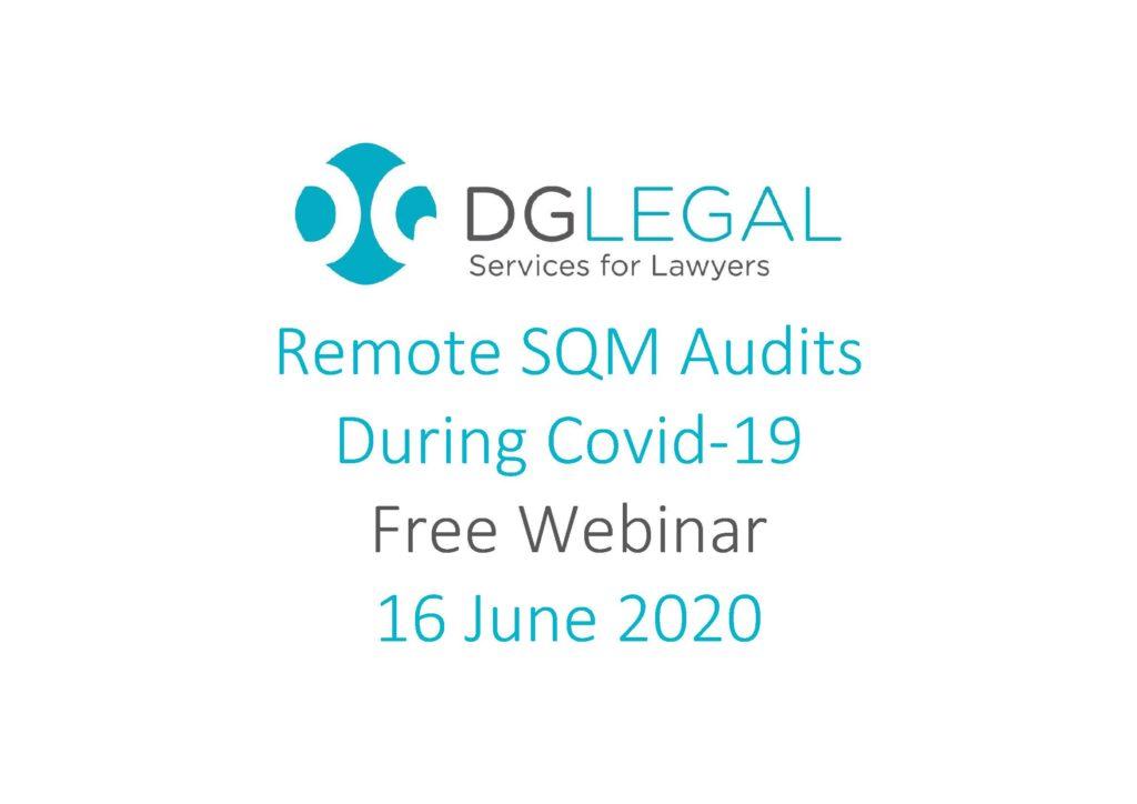 Remote SQM Audits During Covid-19 Webinar
