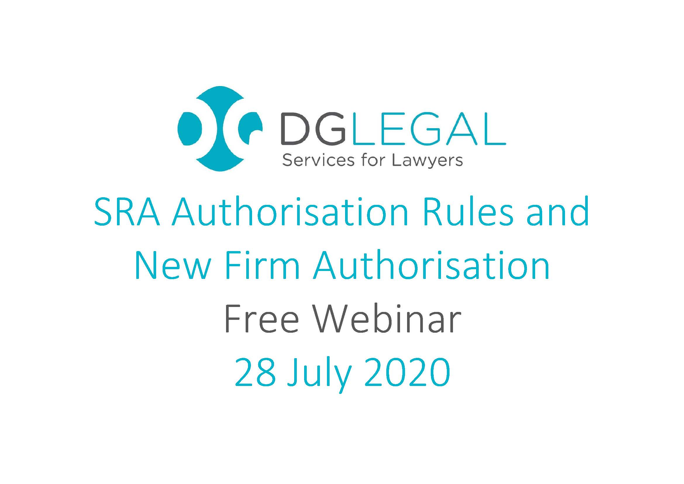 SRA Authorisation Rules and New Firm Authorisation Webinar
