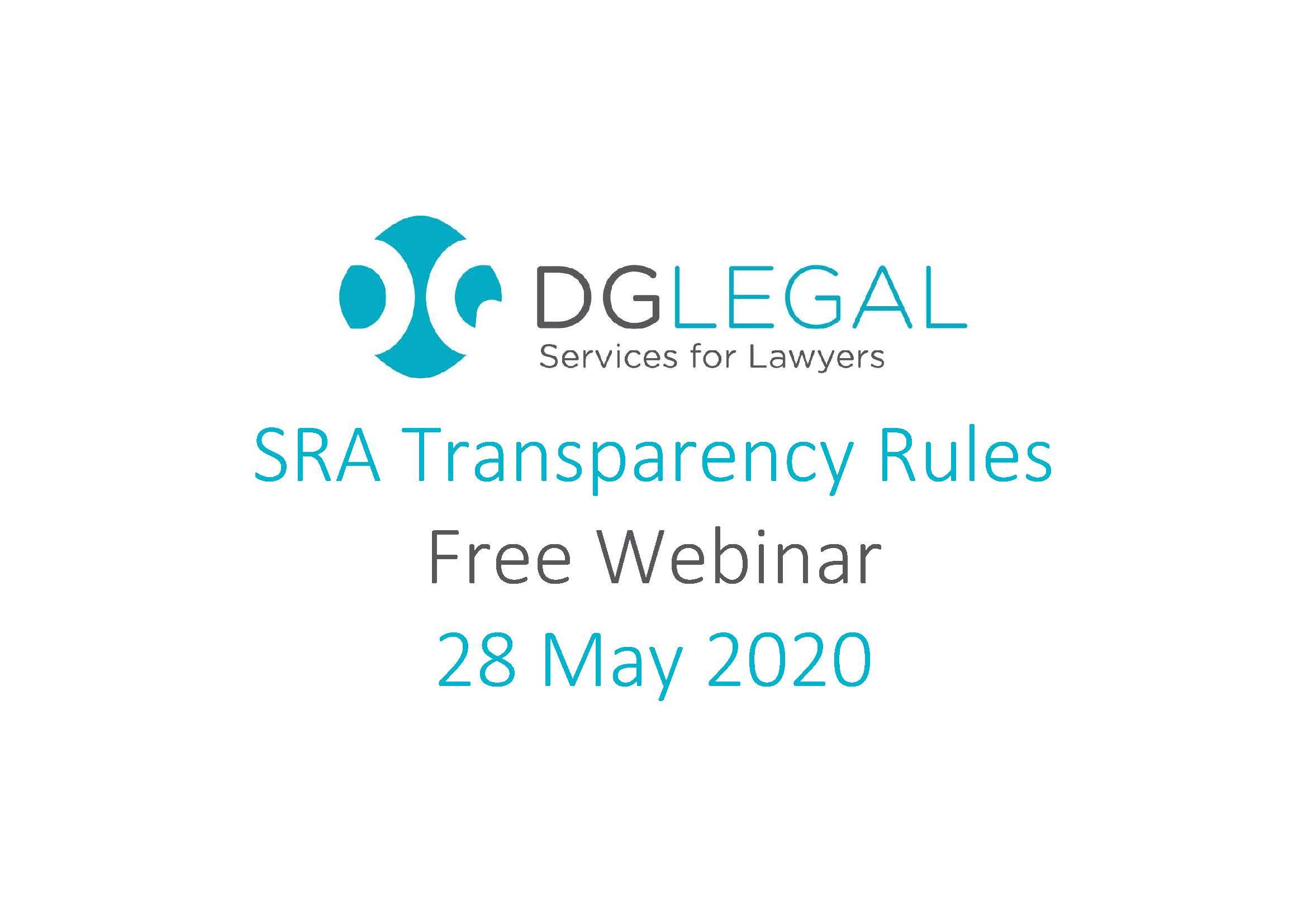 SRA Transparency Rules Webinar