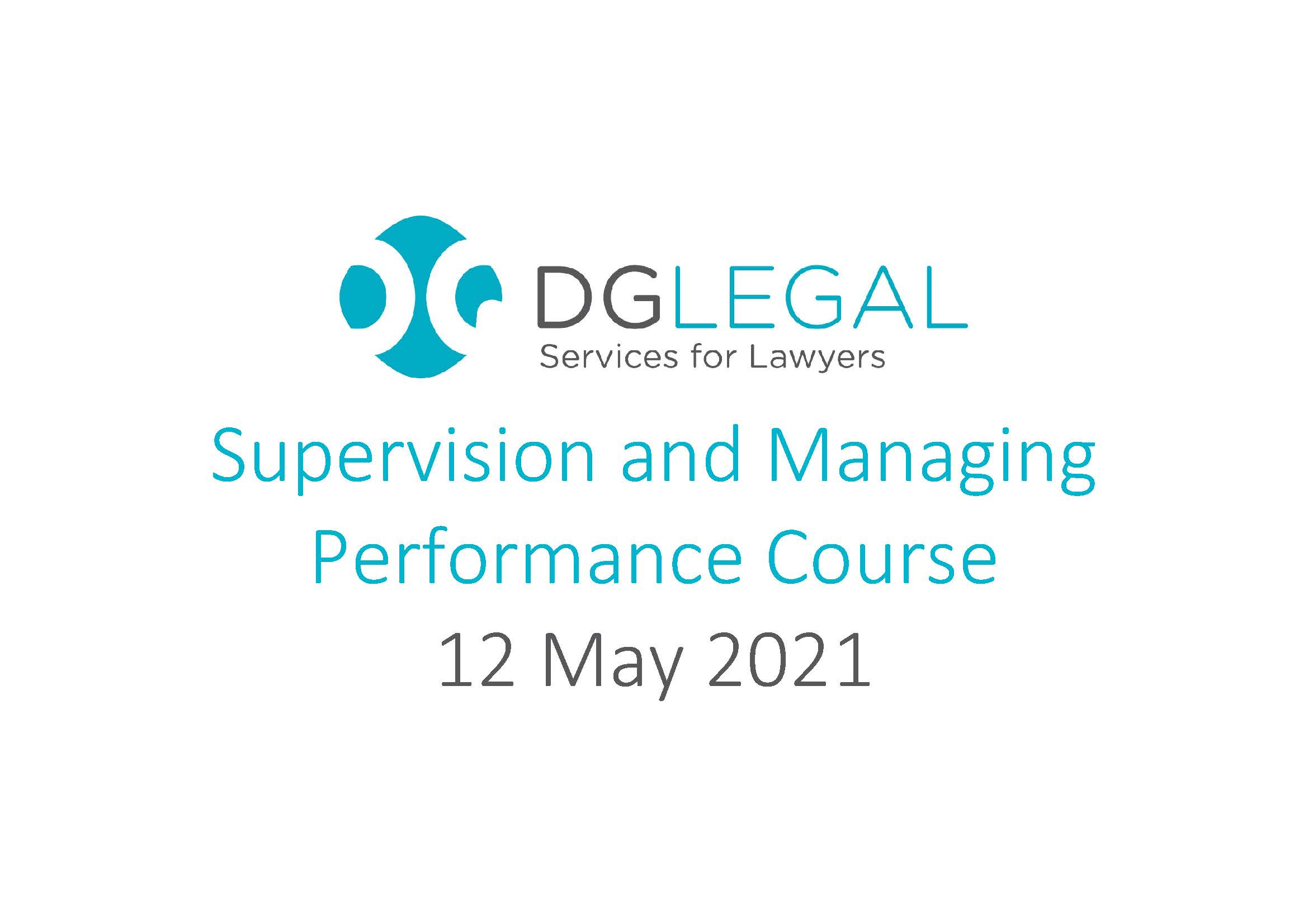 12.05.2021 - Supervision and Managing Performance Course