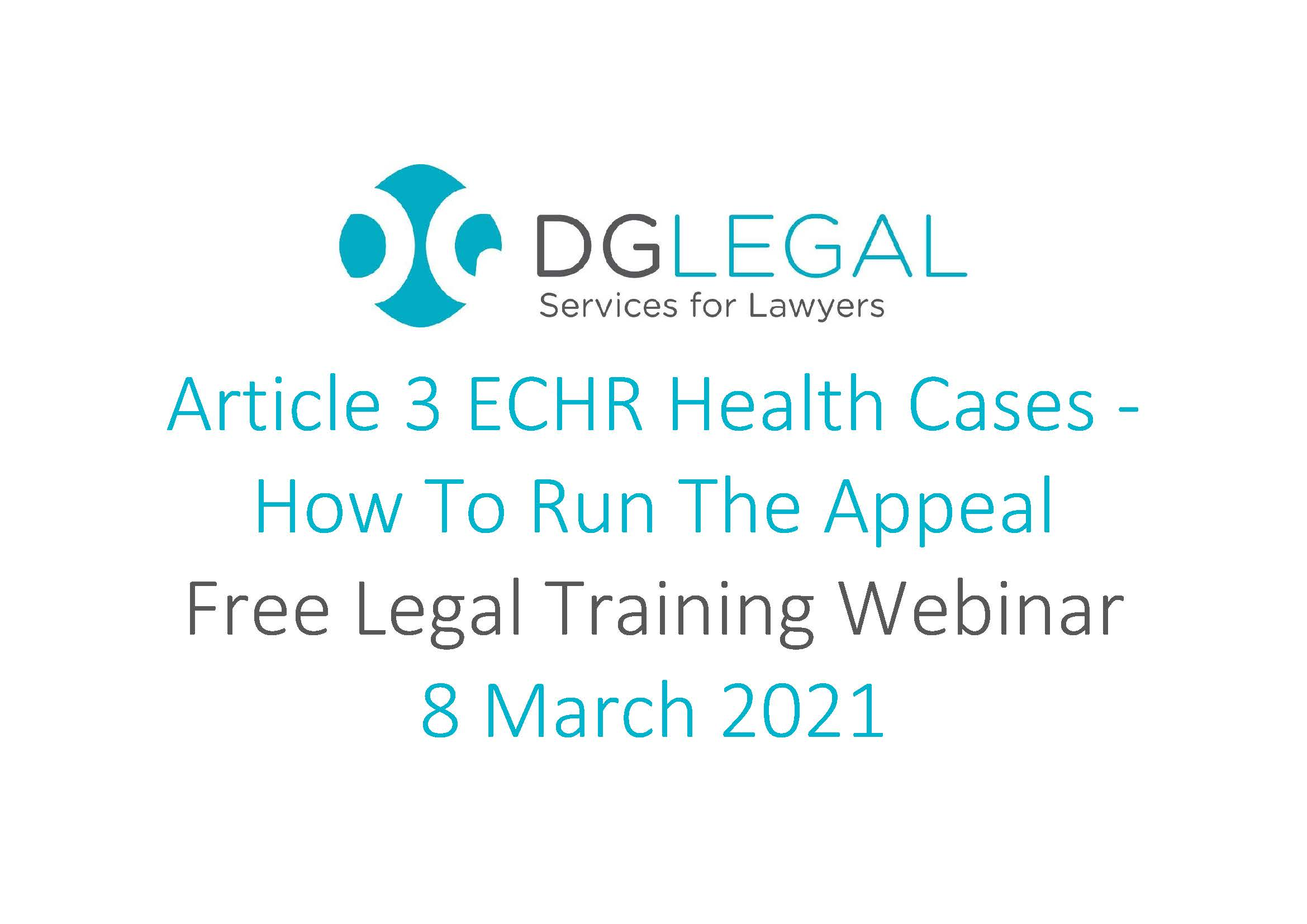 Article 3 ECHR Health Cases - How To Run The Appeal