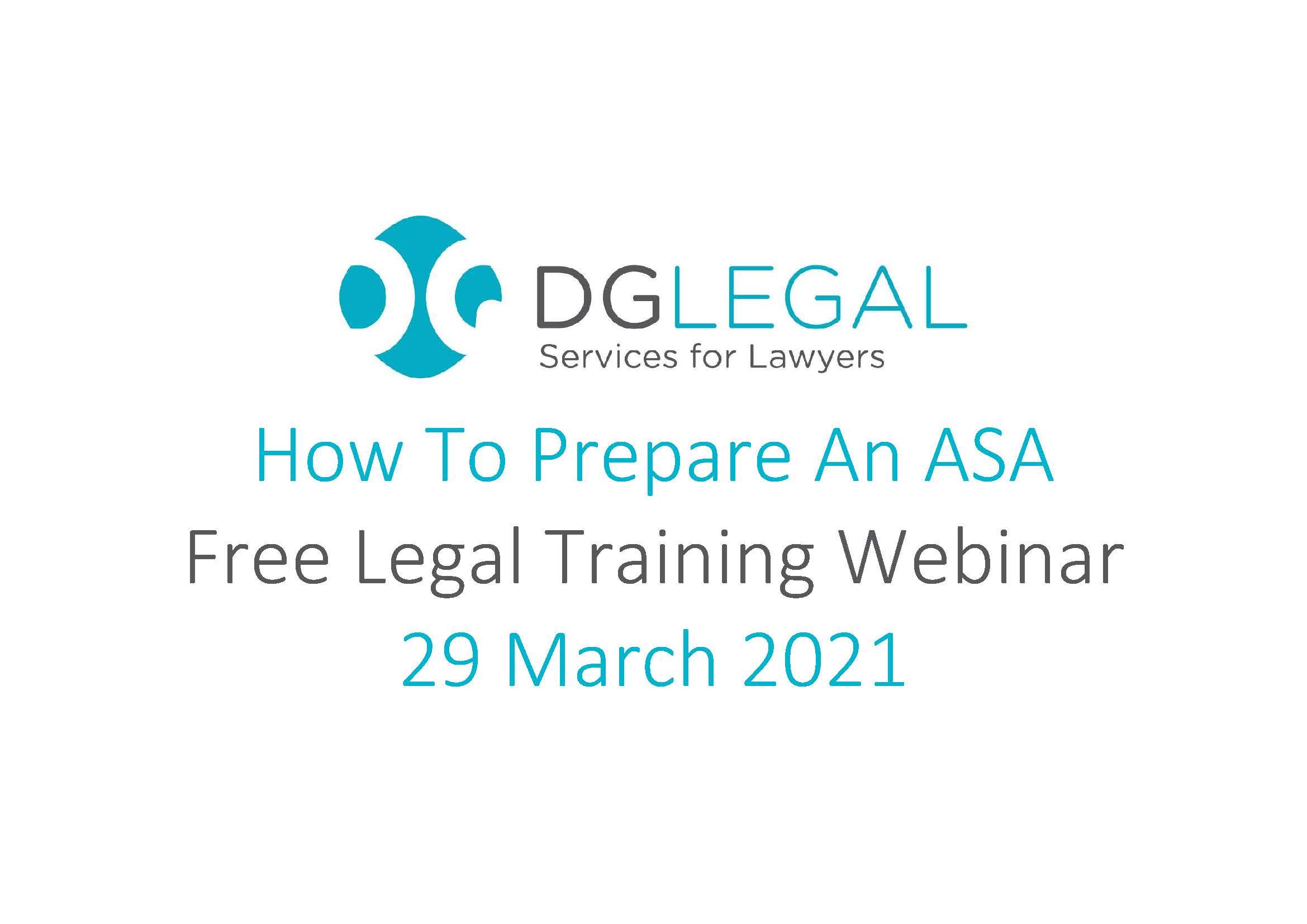How To Prepare An ASA Webinar