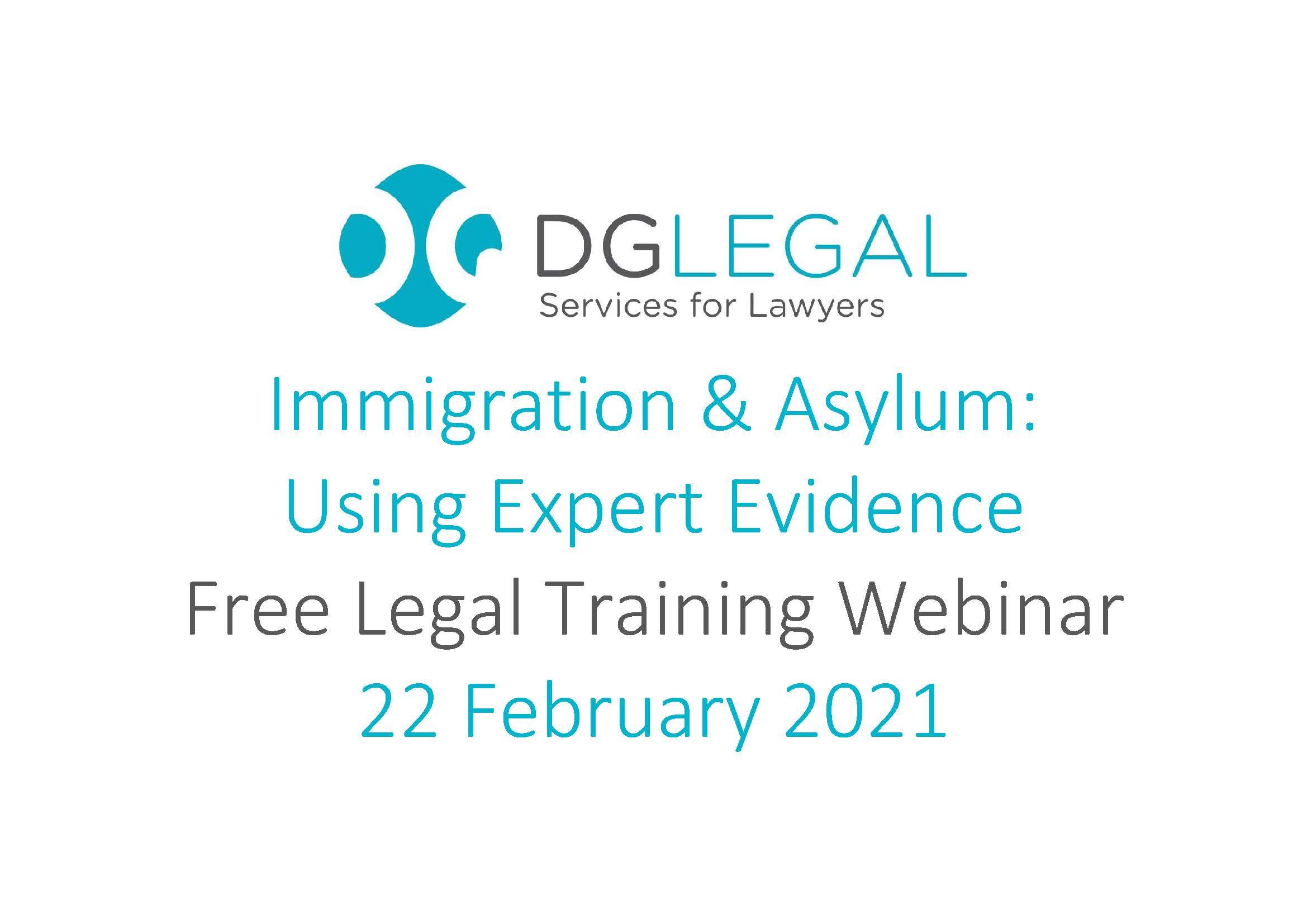 Immigration & Asylum Using Expert Evidence