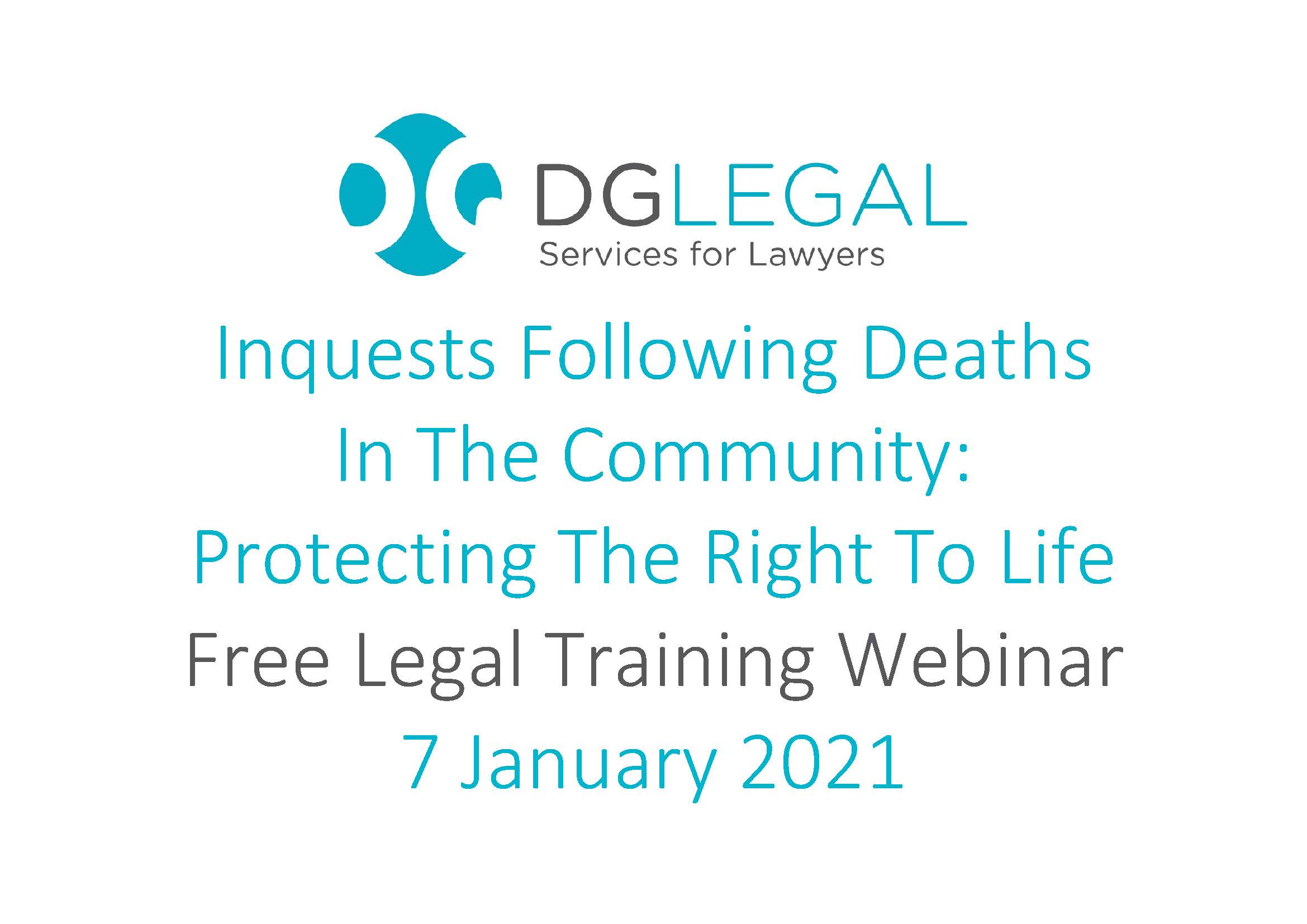 Inquests Following Deaths In The Community Protecting The Right To Life
