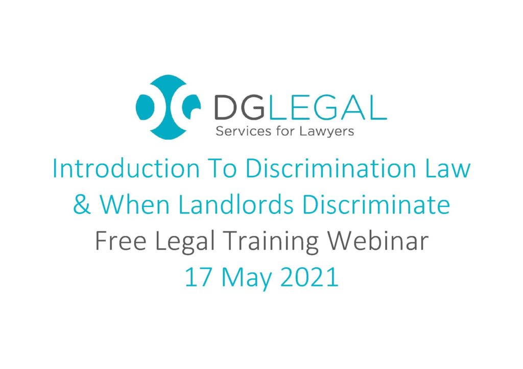 Introduction To Discrimination Law & When Landlords Discriminate
