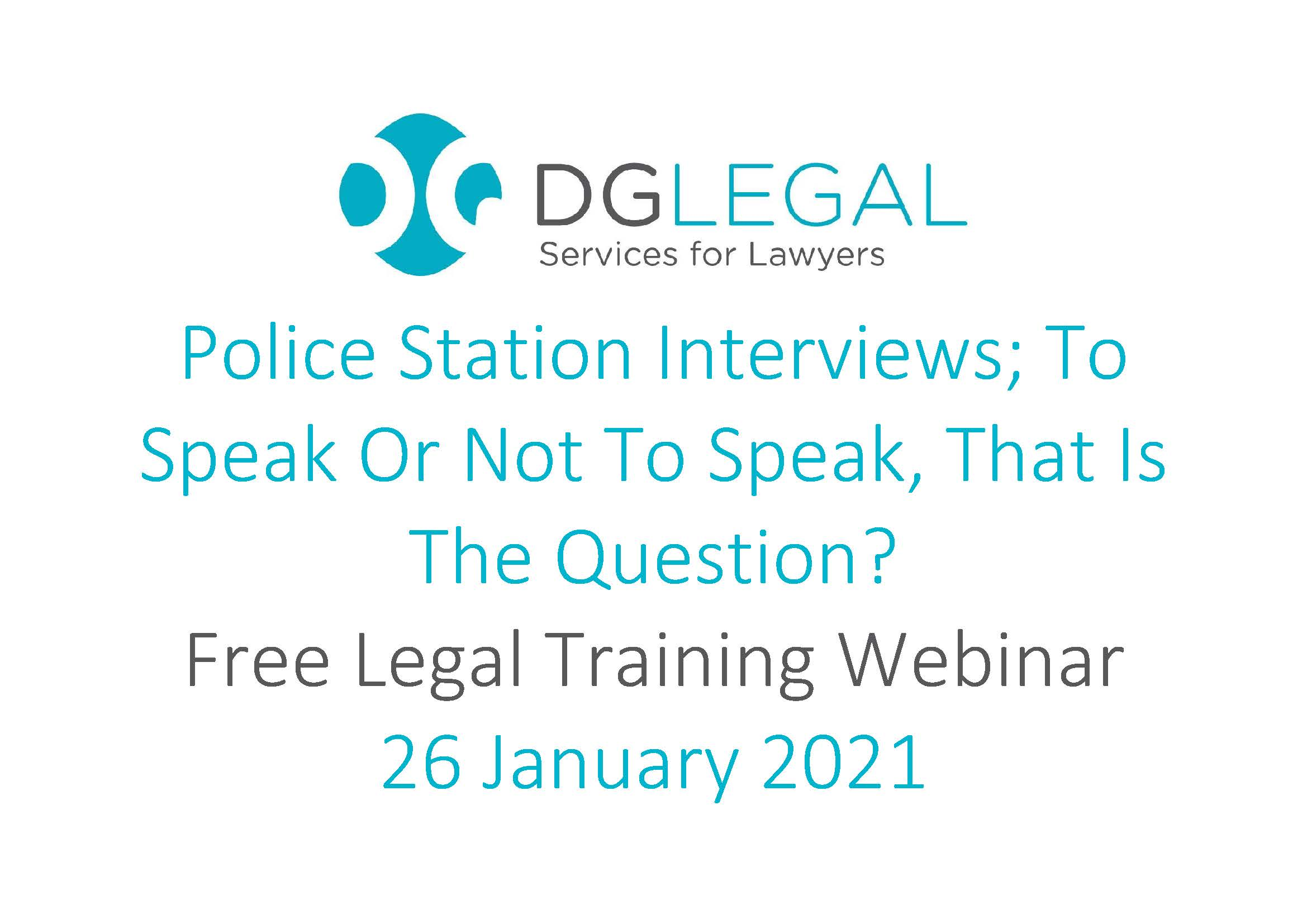 Police Station Interviews - To speak or not to speak, that is the question