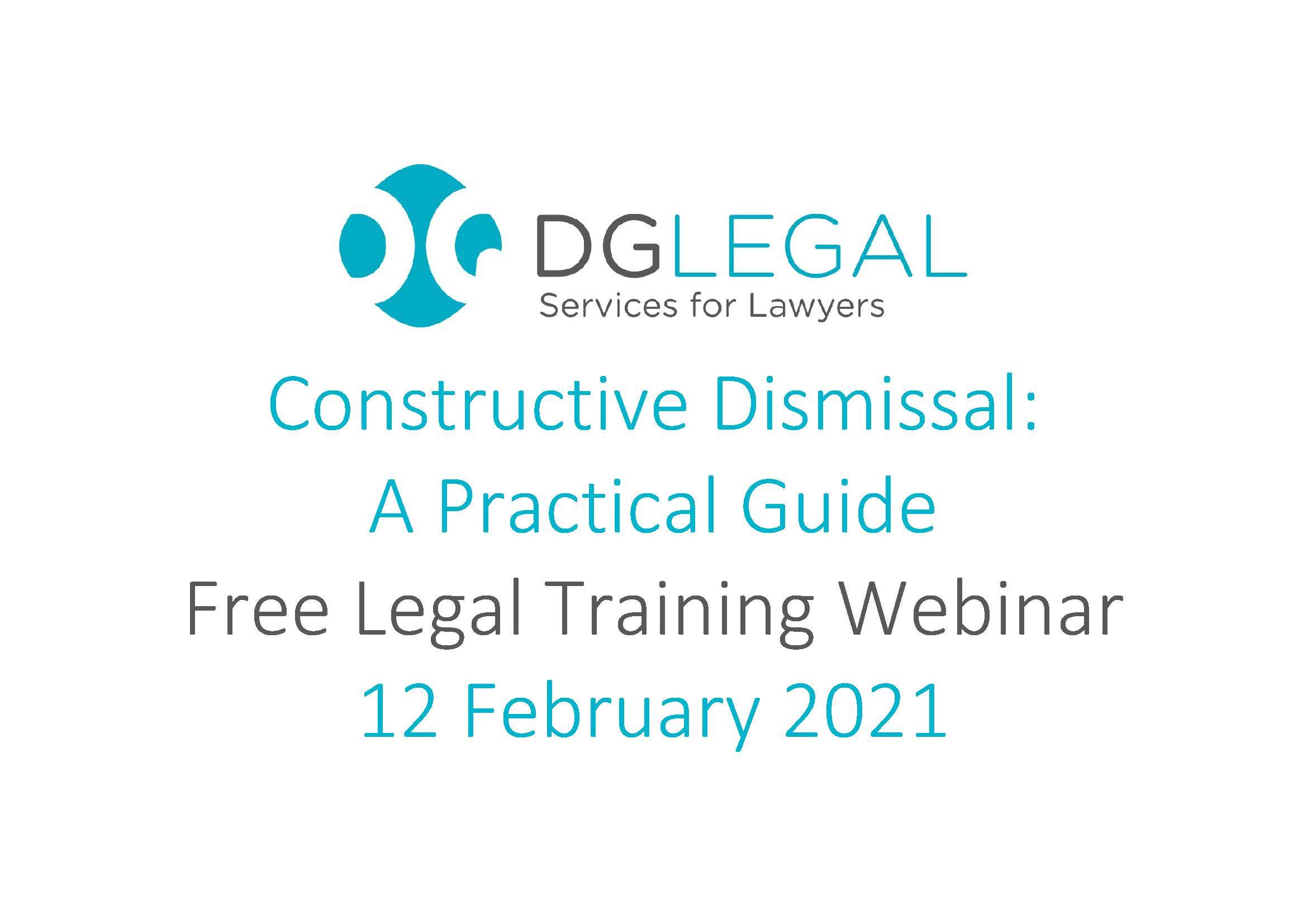 Constructive Dismissal A Practical Guide