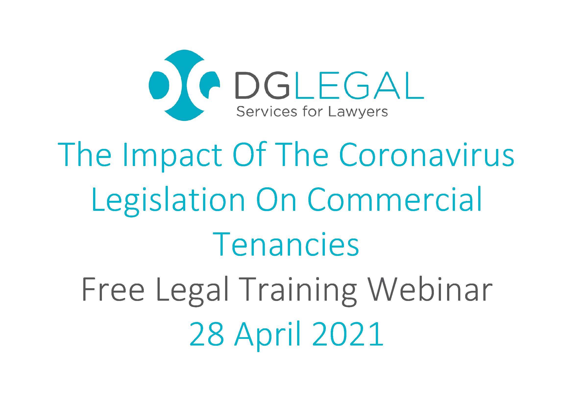 The Impact Of The Coronavirus Legislation On Commercial Tenancies