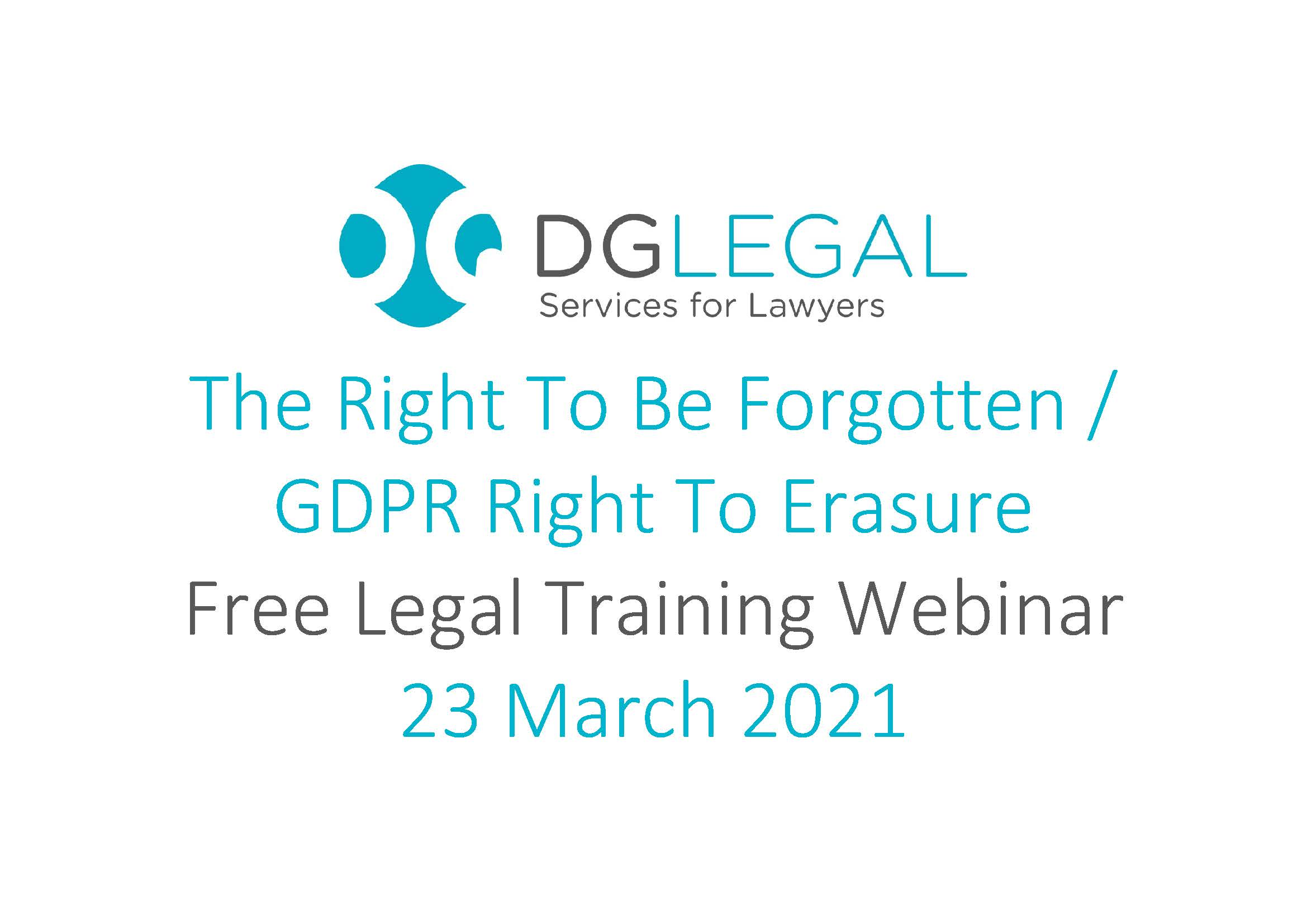 The Right To Be Forgotten - GDPR Right To Erasure