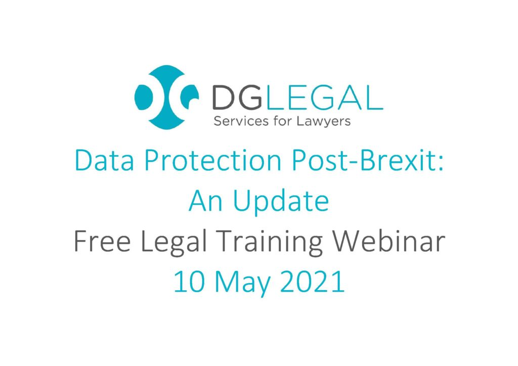 Data Protection Post-Brexit - An Update Webinar