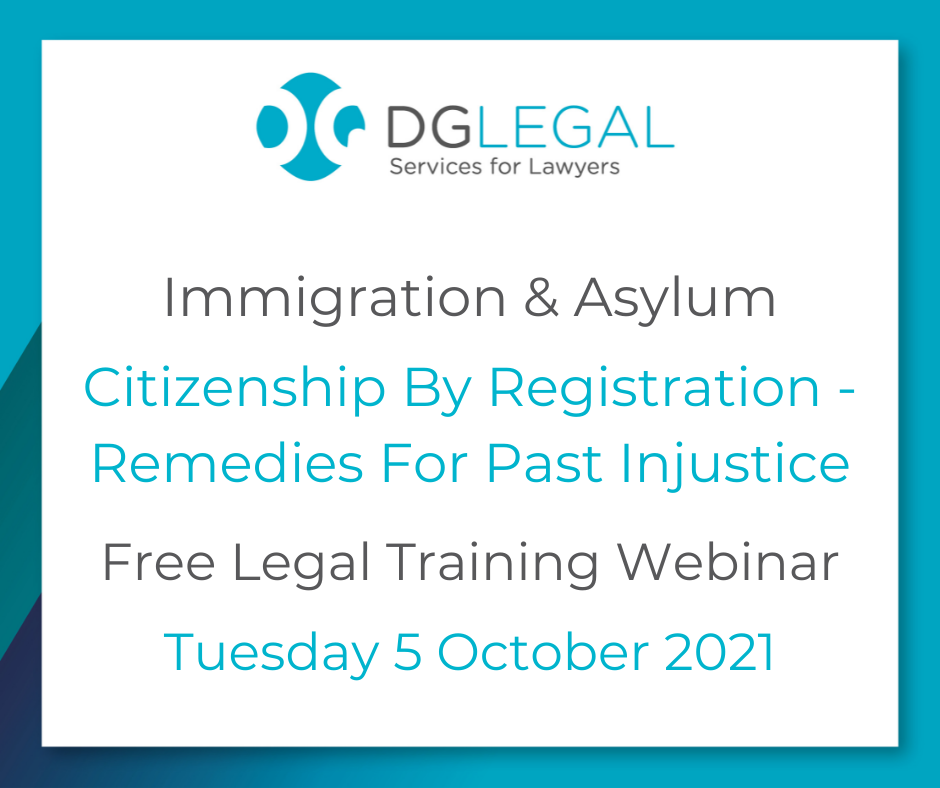 Citizenship By Registration - Remedies For Past Injustice